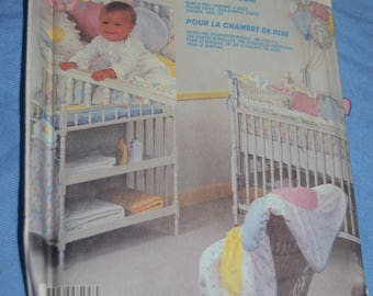 McCalls 2291 Baby's Room Packag Sewing Pattern - UNCUT -  Nursery Accessories