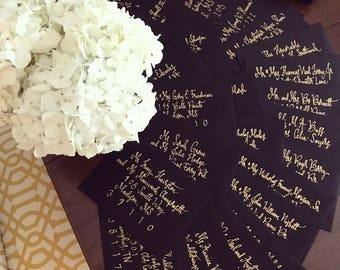 Calligraphy and Invitations
