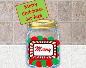 Christmas Jar Labels