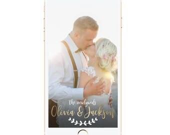 Wedding Snapchat Filter | Wedding Geofilter | Snapchat Geofilter | The Newlyweds Geofilter | Happily Ever After Wedding Geofilter