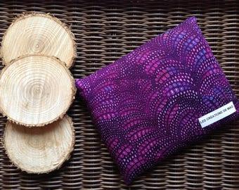 Medium bag comfort heating dries, 14 cm X 18 cm, hot, cold, purple leaves