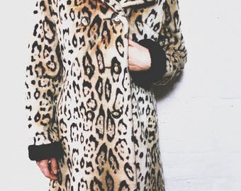 Faux Fur Animal Cheetah Print Jacket