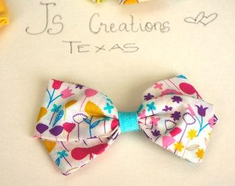 Super Cute Girls Hair Bows, Fabric Hair Bows, Handmade Bows, Flower Bows, Handmade