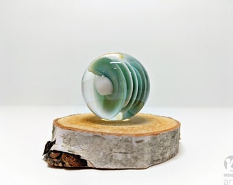 Handmade Glass Seafoam Spiral Ocean Marble, Boro Marble, Glass Orb, Art Marble, Planet Marble, Collectible Marble, Space Marble, sphere