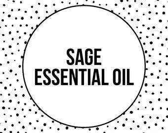 SAGE ESSENTIAL OIL - Natural Skincare - Vegan Skincare - Salvia officinalis - 10ML