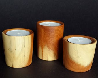 Tea Light Holders ( Yew )