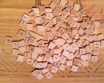 100 Wooden Scrabble Tiles Crafting Tiles Miscellaneous Tiles