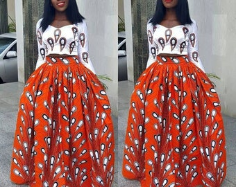 Kiksies brown long maxi skirt