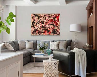 Large abstract painting, Abstract Expressionism, Original Art, Large Canvas, Modern Art, Contemporary Art, Wall decoration, Large wall art
