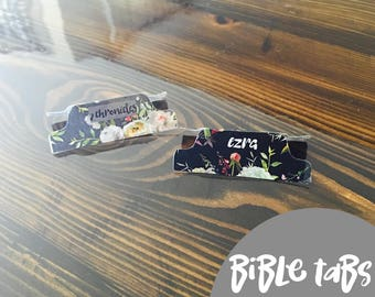 Laminated BIBLE TABS, Bible Tabs, Bible Tabs DIY, Tabs for Bible, Floral Bible Tabs, Bible Study, Bible Book Labels, Bible Labels