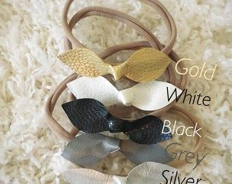 leather headband, baby headband, nylon headband, baby gift, baby bows, headband, bow, bows