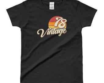 Vintage 1978 40th Birthday Ladies' T-shirt
