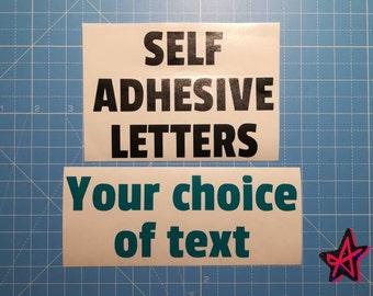 "Personalised 4"" 5"" 6"" 7"" large self-adhesive vinyl letter stickers | Custom Vinyl Lettering"