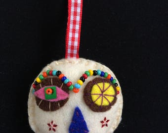 PERCY Gris-Gris Head - hanging decoration, keyring, fashion accessory.