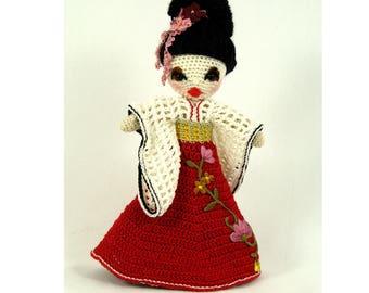 Crochet Amigurumi Geisha Collector Doll