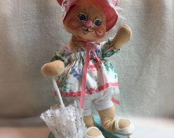Annalee Dolls - Bunny with Parasol - 1987 (#023)