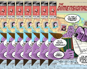 The Dimensionals #3, signed with an original sketch inside!