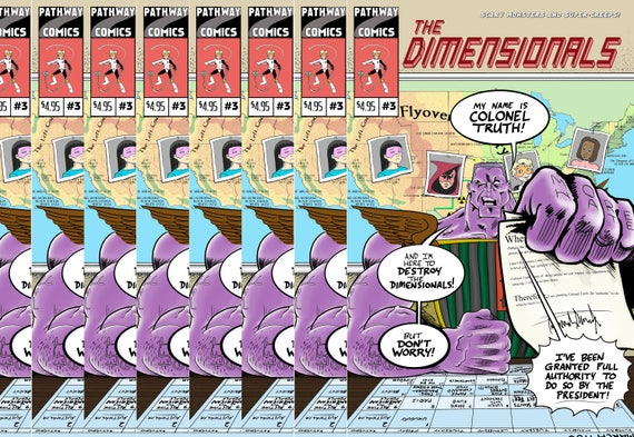 Print edition of The Dimensionals #3, signed with an original sketch inside!