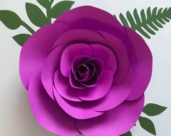 giant rose template etsy