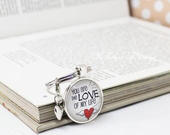 Valentinstag Geschenk, Schlüsselanhänger Liebe, You Are The Love Of My  Life, Geschenk Für
