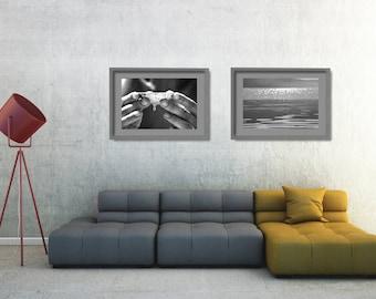 Black and White Wall Art Set, Black and White Coastal Decor, Beach Wall Decor Set, Beach Photo Shoot, Ocean Photo Decor, Nature Wall Art Set
