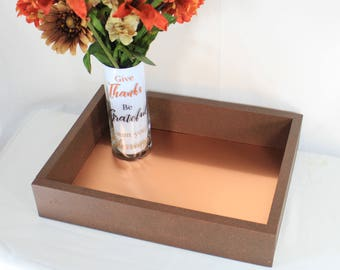 Coffee Table Decor, Coffee Table Tray, Ottoman Tray, Wooden Serving, Wood Centerpiece, Coffee Table Centerpiece, Ottoman Decor, Modern Decor