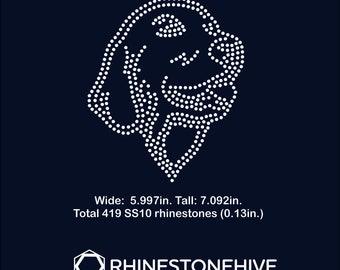 Labrador Retriever rhinestone templates digital download, svg, eps, png, dxf
