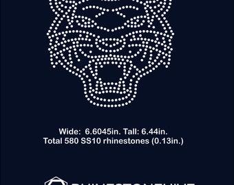 Tiger rhinestone templates digital download, svg, eps, png, dxf