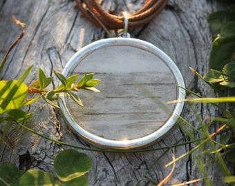 White Birch Bark Necklace