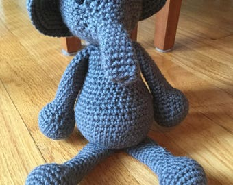 Elephant, crochet stuffed animal