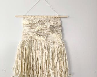 Woven Wall Hanging in Neutral Patches