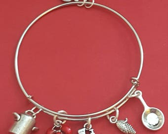 Cook/Chef Themed Charm Bracelet