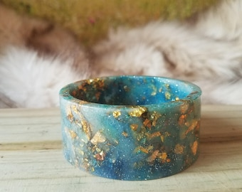 Aqua Blue Resin Bangle