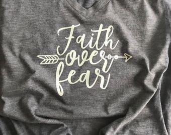 Faith over Fear Christian Tee Shirt