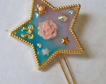 Kawaii Pastel Star Hair Clip