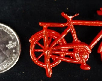 Bicycle Small Red: Handley House, garden supplies, fairy garden, dollhouse, miniature,