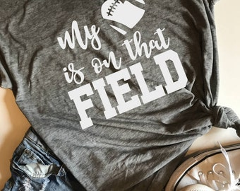 My heart is on that field SVG, PDF, PNG, dxf Design