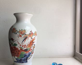 Bud Vase, White ceramic bud vase, Asian small Vase, Home decor, gift for her, Flower vase, Milk Glass Vase