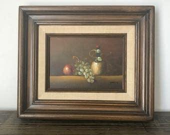 Vintage Painting -Still Life -Framed Art