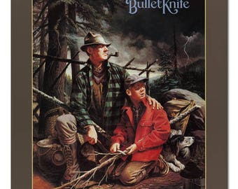 1994 Remington The Camp Bullet Knife Poster