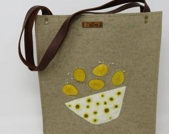 Tote Bag,Handbag,Wool Felt bag,Shoulder Bag,working bag
