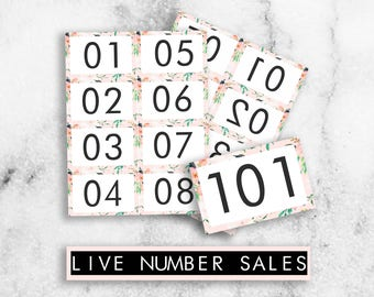 Facebook/Periscope Live Sale Numbers // Sale Number Cards // Live Number Cards // Lula // Normal and Mirrored // Printable