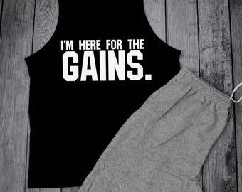Mens Workout Tank, Mens Gym Tank, Bodybuilding Tank, weight lifting tank, Mens Lifting Tank, Mens Muscle Shirt, Gains Shirt, Mens Tank Top