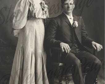 1910's | Couple Portrait | black & white photography