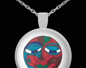Ethnic Goddess Face Pendant