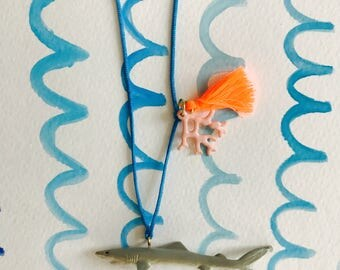 Gray Reef Shark Necklace