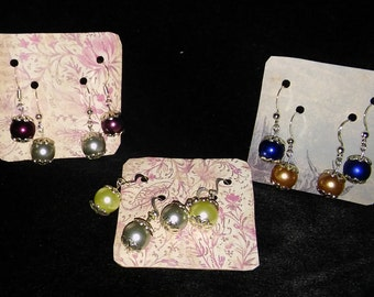 Lacey Pearls Drop Earrings