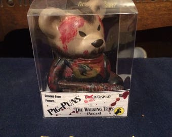 Bears in Cosplay - The Walking Teds ooak Bear Custom Money Box (Negan)