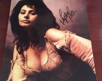 Hand-signed Sofia Loren Autographed Photo