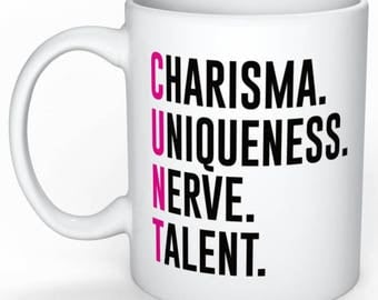 Charisma. Uniqueness. Nerve. Talent.  -  RuPaul's Drag Race, Queer, LGBT, Catchphrase Mug